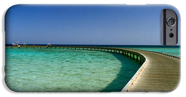 The Way Forward iPhone Cases - Pier In The Sea, Soma Bay, Hurghada iPhone Case by Panoramic Images