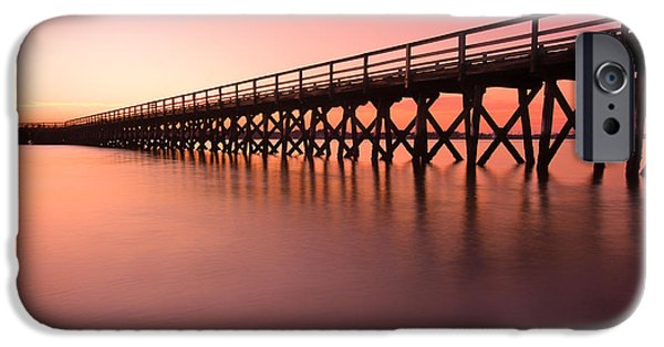 Recently Sold -  - Maine iPhone Cases - Pier Into The Distance iPhone Case by Jeff Sinon