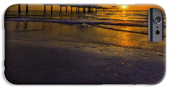 Gulf Shores iPhone Cases - Pier into the Sun iPhone Case by Marvin Spates