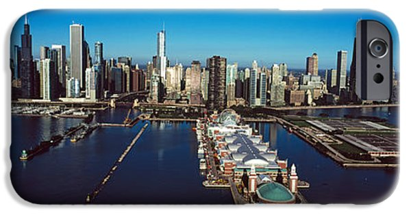 Chicago iPhone Cases - Pier On A Lake, Navy Pier, Chicago iPhone Case by Panoramic Images