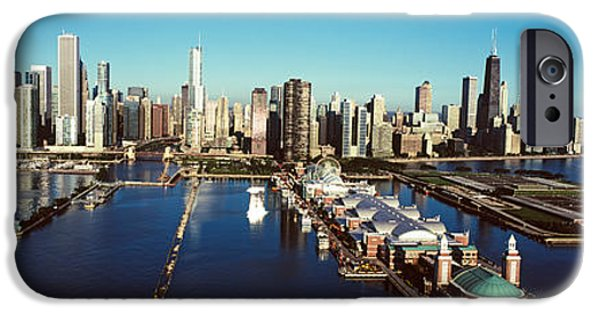 Sears Tower iPhone Cases - Pier On A Lake, Navy Pier, Lake iPhone Case by Panoramic Images