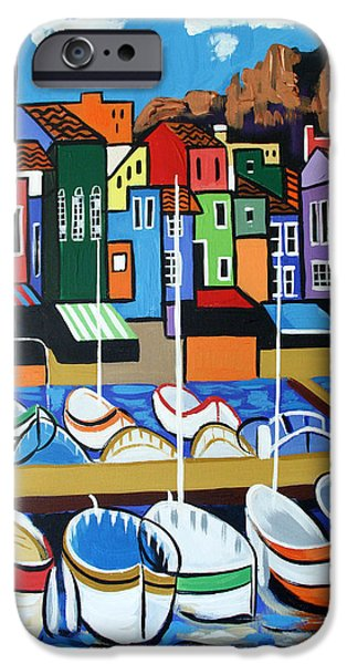 Cubist iPhone Cases - Pier One iPhone Case by Anthony Falbo