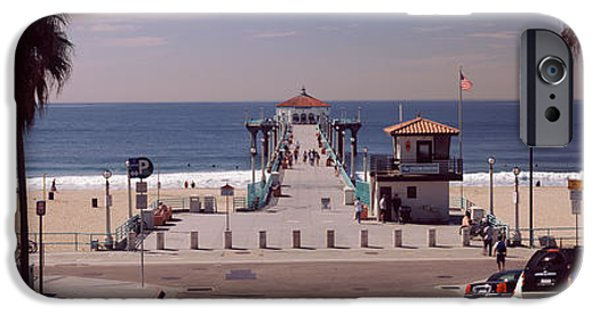 Recently Sold -  - Beach iPhone Cases - Pier Over An Ocean, Manhattan Beach iPhone Case by Panoramic Images