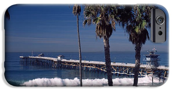 Clemente iPhone Cases - Pier Over An Ocean, San Clemente Pier iPhone Case by Panoramic Images