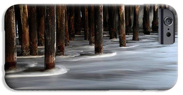 Santa Cruz Pier iPhone Cases - Pier Pilings Santa Cruz California 2 iPhone Case by Bob Christopher