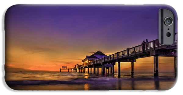 Gulf Shores iPhone Cases - Pier Reflections iPhone Case by Marvin Spates