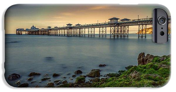 Pier Digital Art iPhone Cases - Pier Seascape iPhone Case by Adrian Evans