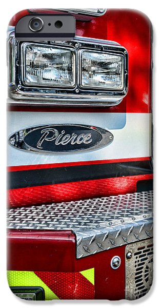 Paul Pierce iPhone Cases - Pierce Fire Truck  iPhone Case by Paul Ward