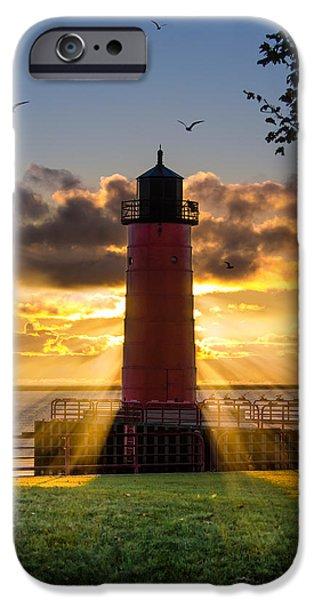 Lighthouse iPhone Cases - Pierhead iPhone Case by Edward Deiro