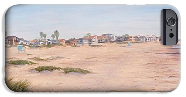 Seagull Drawings iPhone Cases - Pierpont Sand Dunes iPhone Case by Tina Obrien