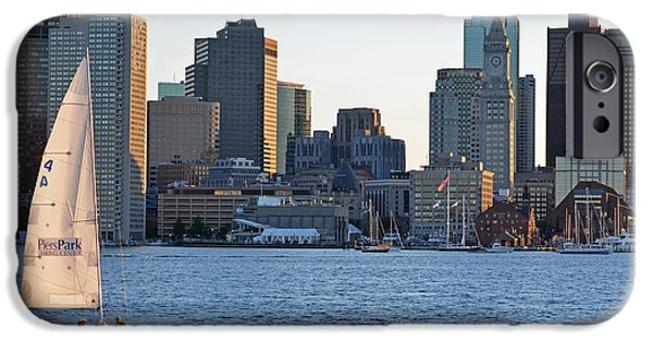Boston Ma iPhone Cases - Piers Park Sailboat iPhone Case by Toby McGuire