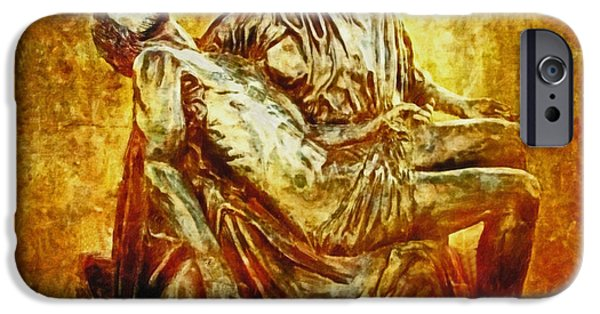 Lianne_schneider Via Dolorosa Print Digital iPhone Cases - Pieta 2 iPhone Case by Lianne Schneider