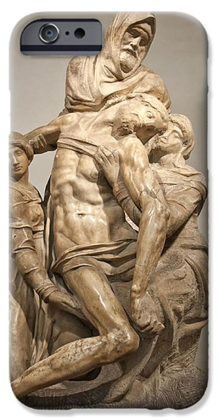 Best Sellers -  - Statue Portrait iPhone Cases - Pieta by Michelangelo iPhone Case by Melany Sarafis