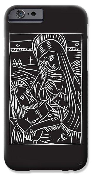 Cradling iPhone Cases - Pieta iPhone Case by Igor Kislev