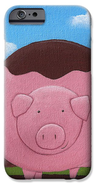 Pig Nursery Art iPhone Case by Christy Beckwith