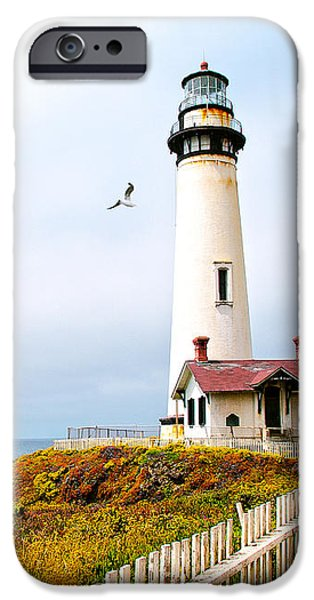 Pigeon Point Lighthouse iPhone Case by Artist and Photographer Laura Wrede