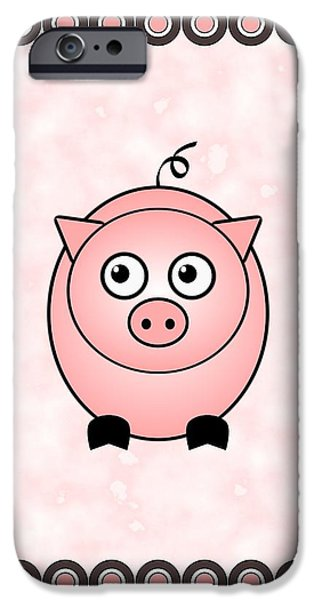 Series iPhone Cases - Piggy - Animals - Art for Kids iPhone Case by Anastasiya Malakhova
