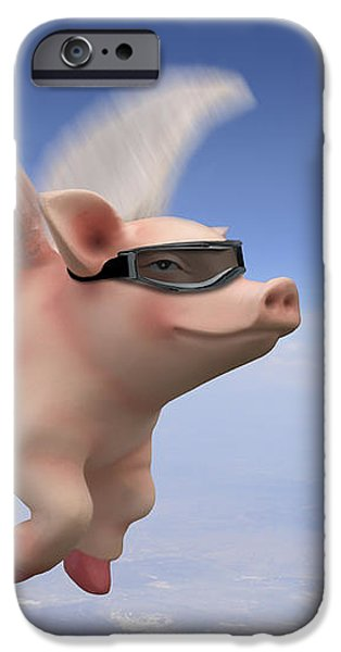 Pigs Fly iPhone Case by Mike McGlothlen