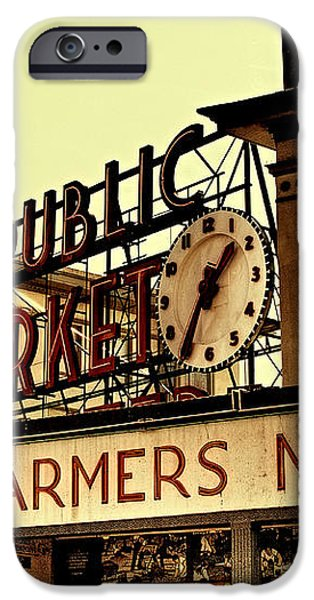 Pike Place Market - Seattle Washington iPhone Case by David Patterson