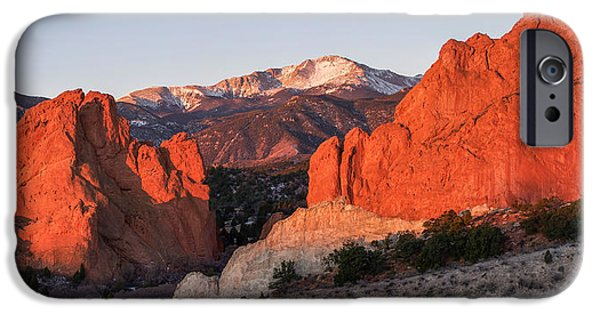 Bates iPhone Cases - Pikes Peak 2 iPhone Case by Aaron Spong