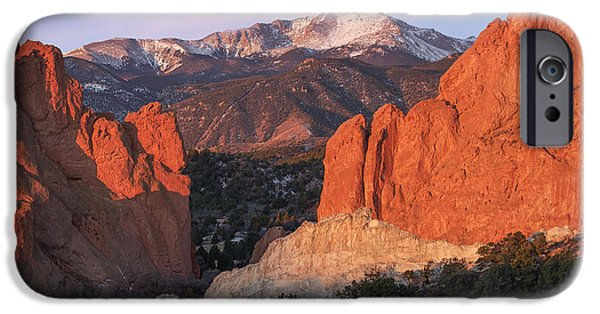 Bates iPhone Cases - Pikes Peak Sunrise iPhone Case by Aaron Spong