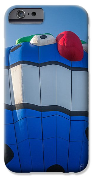 Freedom iPhone Cases - PIKO the Hot Air Balloon iPhone Case by Edward Fielding