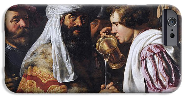 Lieven iPhone Cases - Pilate Washing his Hands iPhone Case by Jan Lievens