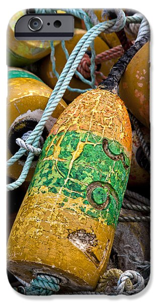 Newport Photographs iPhone Cases - Pile of Colorful Buoys iPhone Case by Carol Leigh