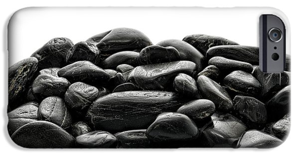 Mounds iPhone Cases - Pile of Stones iPhone Case by Olivier Le Queinec