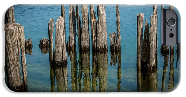 Lakescape iPhone Cases - Pilings iPhone Case by Paul Freidlund