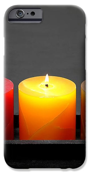Pillar Candles iPhone Case by Olivier Le Queinec