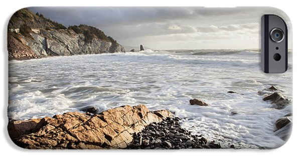 Cabot iPhone Cases - Pillar Rock near Cheticamp iPhone Case by Michel Soucy