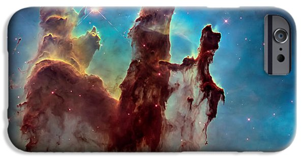 Pillars iPhone Cases - Pillars of Creation in High Definition Cropped iPhone Case by The  Vault - Jennifer Rondinelli Reilly