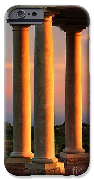 Ocean Sunset iPhone Cases - Pillars of Life iPhone Case by Mariola Bitner
