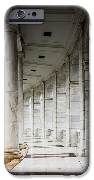 Cemetary iPhone Cases - Pillars Of Marble iPhone Case by Kathy Liebrum Bailey
