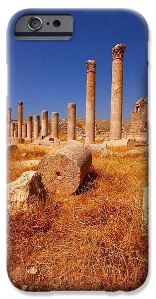 Jordan iPhone Cases - Pillars Of Ruin iPhone Case by FireFlux Studios