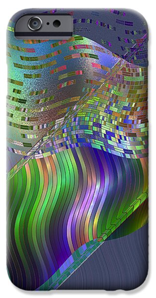 Colorful Abstract Algorithmic Contemporary iPhone Cases - Pillowing iPhone Case by Judi Suni Hall