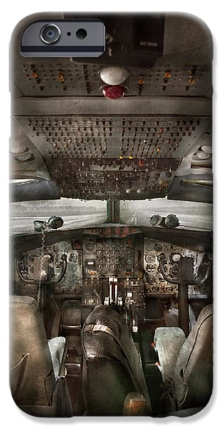Pilot - Boeing 707  - Cockpit - We need a pilot or two iPhone Case by Mike Savad