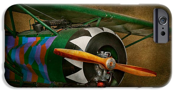 Wwi iPhone Cases - Pilot - Plane - German WW1 Fighter - Fokker D VIII iPhone Case by Mike Savad