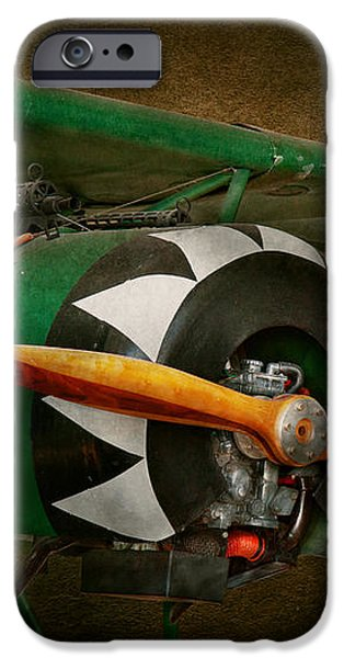 Pilot - Plane - German WW1 Fighter - Fokker D VIII iPhone Case by Mike Savad