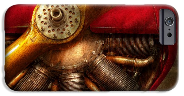 Barnstormer Photographs iPhone Cases - Pilot - Prop - The barnstormer iPhone Case by Mike Savad