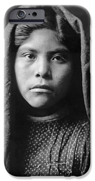 1907 iPhone Cases - Pima Indian girl circa 1907 iPhone Case by Aged Pixel