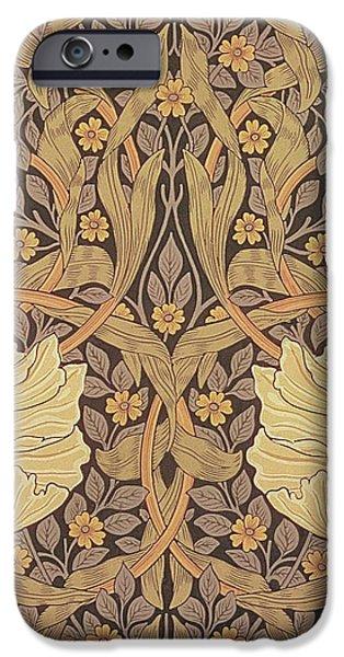 Pimpernel wallpaper design iPhone Case by William Morris