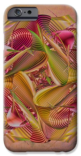 Pin Stripe City iPhone Case by Deborah Benoit
