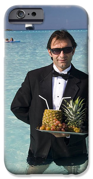 Waiter Photographs iPhone Cases - Pina Colada Anyone iPhone Case by David Smith