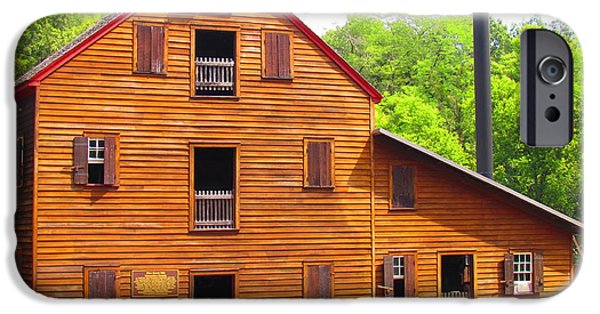 Grist Mill iPhone Cases - Pine Creek Mill iPhone Case by Nicole Engelhardt
