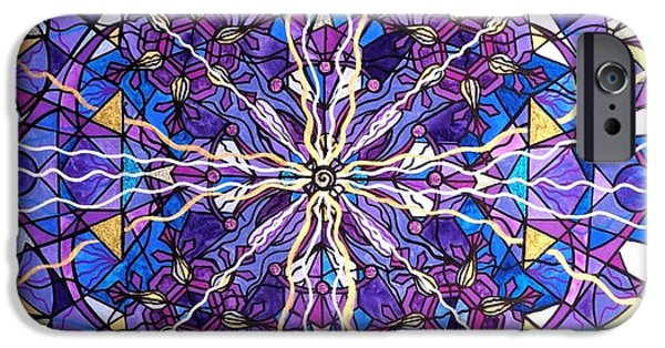 Mandalas iPhone Cases - Pineal Opening iPhone Case by Teal Eye  Print Store
