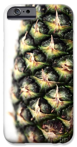Pineapple Half iPhone Case by John Rizzuto
