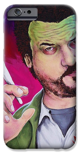 Danny Mcbride iPhone Cases - Pineapple Red iPhone Case by Michael Vanderhoof
