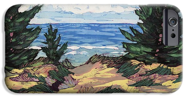 Great Tapestries - Textiles iPhone Cases - Pines and Dunes iPhone Case by Terri Haugen